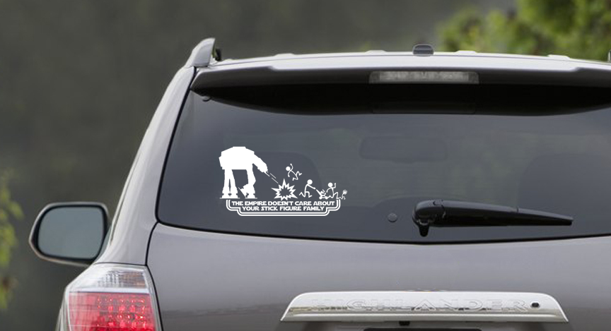 The Empire Doesn't Care AT-ATVinyl Sticker Decal