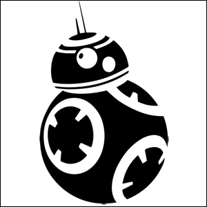 Star Wars Droid BB Star Wars Sticker Car Vinyl Decal Sticker - Decals and stickers for cars