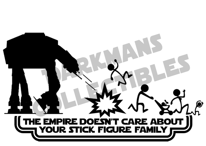 The Empire Doesn't Care AT-AT Vinyl Sticker Decal